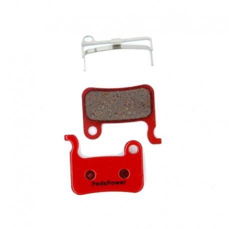Plaquettes métalliques PADSPOWER Expert TRP Dash, Dash Carbon, Parabox 2011 Front