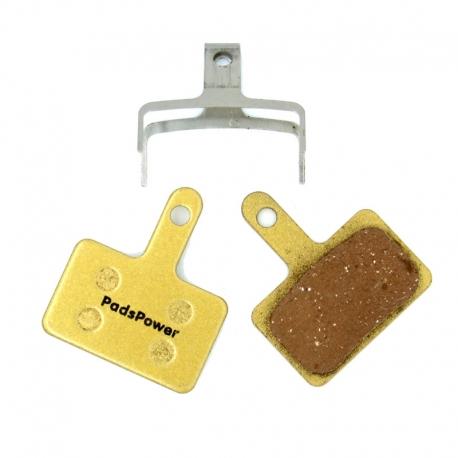 Plaquettes freins métallique PADSPOWER HERO pour trottinette Egret Ten V1 AV/AR , V2 AV, V3 AV