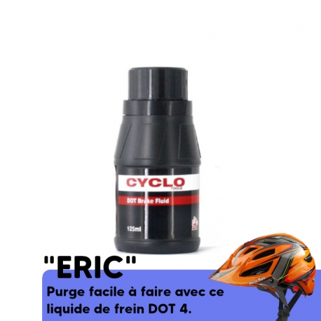 huile de purge DOT 4 Weldtite pour frein VTT compatible Avid, Sram, Clarks, Formula, Giant, Hayes, Hope.