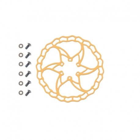 Disque de frein VTT - vélo - trottinette - 6 trous - Quaxar Iris Titane