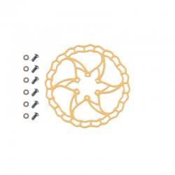 Disque trottinette électrique Zero 10X - 6 trous - Quaxar Iris Titane