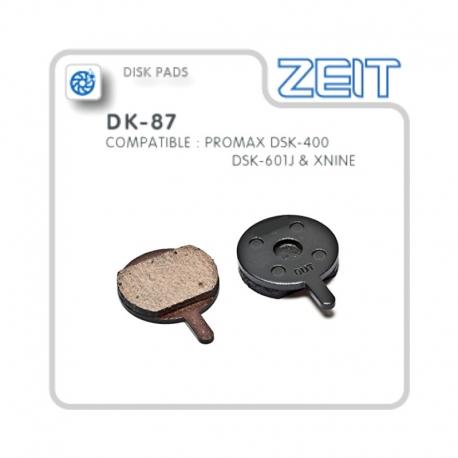Plaquettes de frein Promax DSK-400 semi-métalliques de la marque ZEIT
