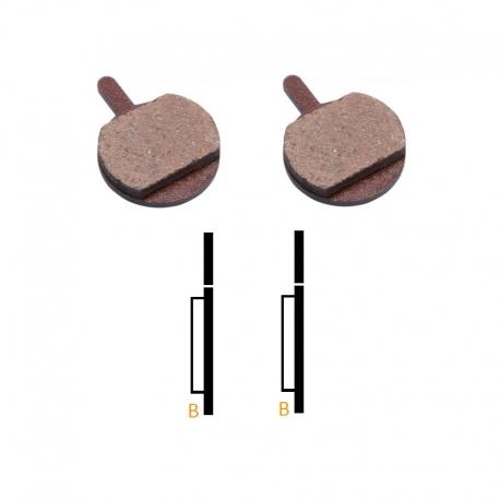 Plaquettes frein VTT semi-metallique Promax DSK-700