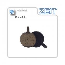 Plaquette frein semi-métallique Zeit pour trottinette électrique Gunai JN52, GN08 avant