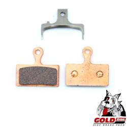 Plaquette de frein métal-céramique Goldfren pour frein VTT Shimano XTR / XT / SLX / Alfine / M615