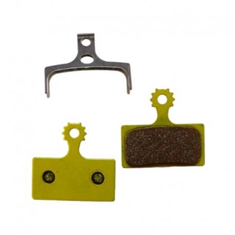 Plaquette métallique Baradine Shimano XTR / XT / SLX / Alfine / M615