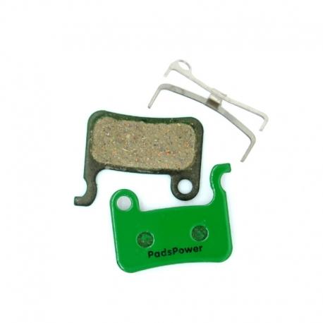 Plaquettes Semi-metallique PADSPOWER ROOKIE Shimano XTR / XT / SLX / SAINT