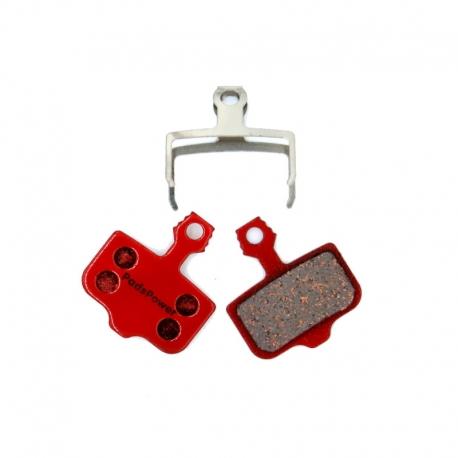 Plaquettes Semi-metallique PADSPOWER EXPERT Avid Elixir / XX / X0 / DB / Sram Level / Level T / Level TL