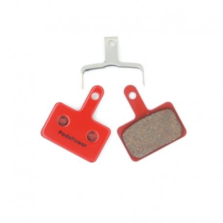 Plaquettes Semi-metallique PADSPOWER EXPERT Shimano B01S Deore , Acera, Alivio, Nexave