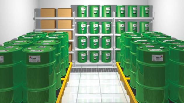 Huile minerale frein VTT sur étagère