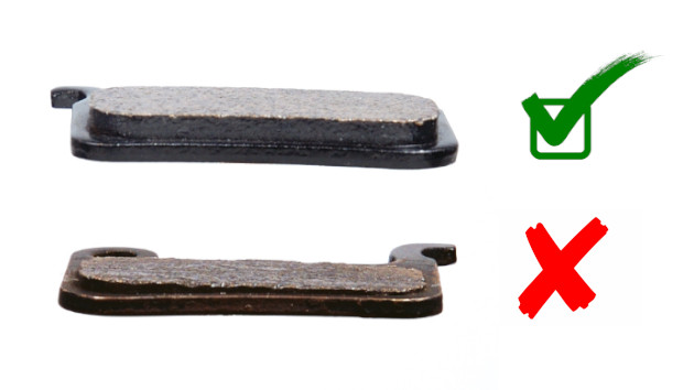 Usure des plaquettes de freins d'une trottinette électrique d'occasion