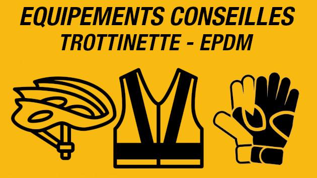 Réglementation trottinette électrique - epdm. les equipements conseillés