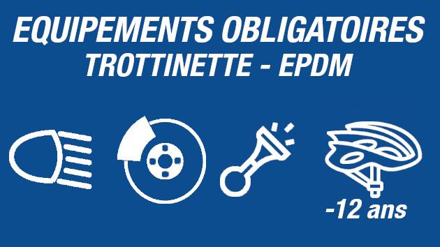 Loi trottinette électriques - epdm, les équipements obligatoires