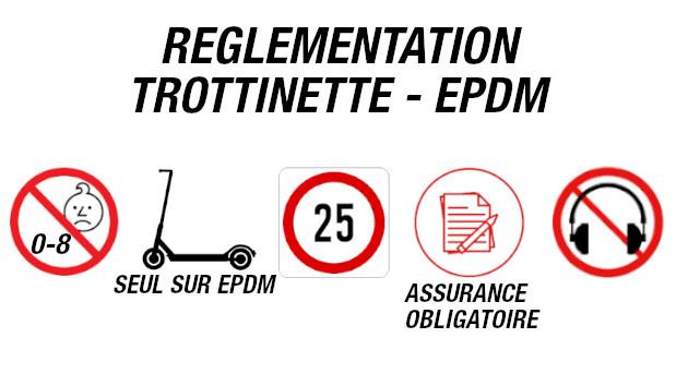 Législation trottinette électrique - epdm. Les règles à respecter.