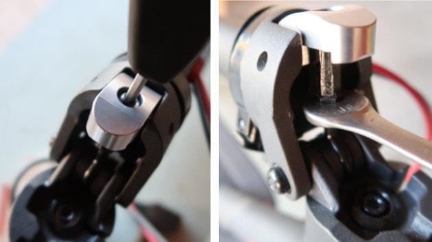 Monter votre anneau de pliage sur votre trottinette électrique Xiaomi M365 et faites le réglage