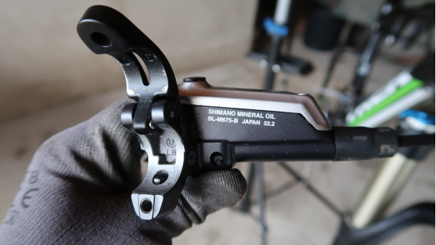 Zoom sur maître cylindre frein Shimano XTR
