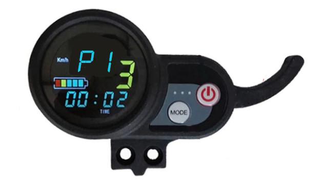 Réglage mode P1 sur ecran LCD trottinette électrique électrique