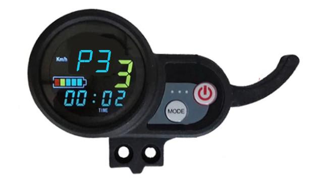 Réglage mode P3 sur ecran LCD trottinette électrique électrique