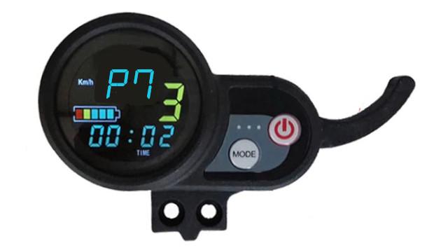 Réglage mode P7 sur compteur trottinette électrique