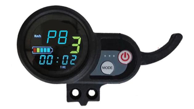 Réglage mode P8 sur ecran LCD trottinette électrique électrique