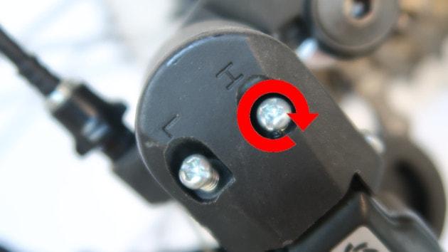 Réglage butée haute de votre dérailleur arrière Shimano XTR