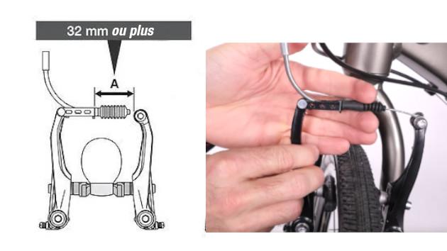 Mettez en place votre soufflet caoutchouc de votre frein V-brake