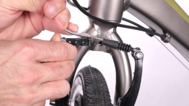 Fixation du cable sur votre frein V-brake