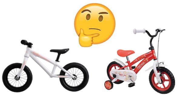 Une draisienne et un vélo enfant 12 pouces