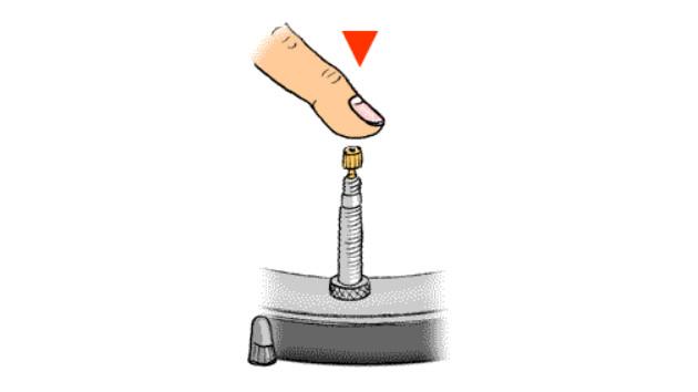 Dégonfler valve Presta tubeless