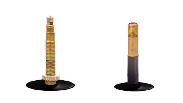 Zoom sur valve Presta et Schrader