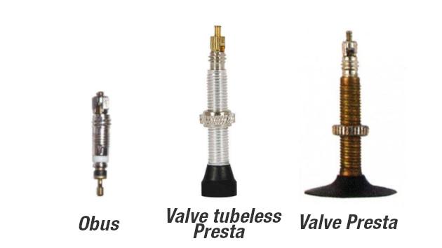 Valve Presta VTT tubeless avec obus