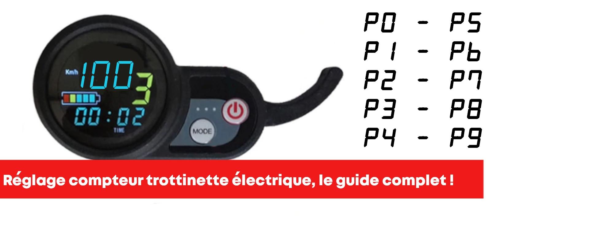Réglage écran LCD trottinette électrique, le guide ultime !