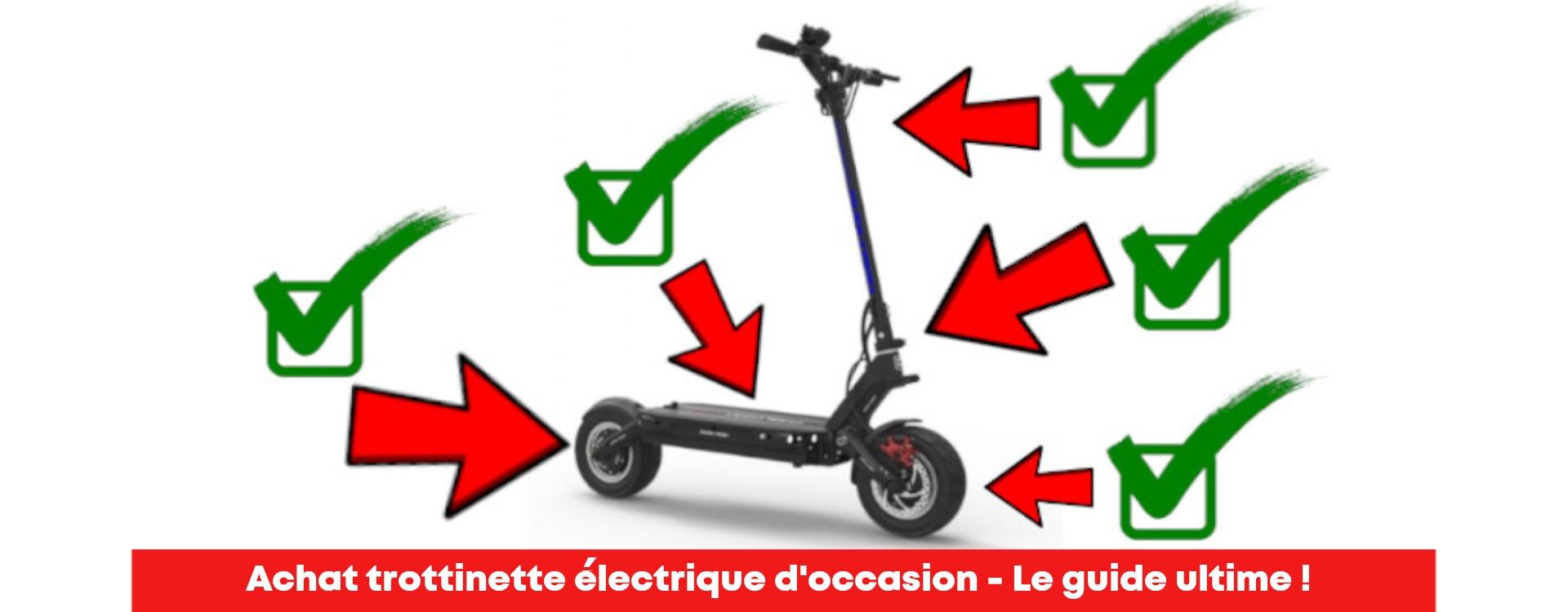 Trottinette électrique occasion - Tout savoir avant d'acheter !
