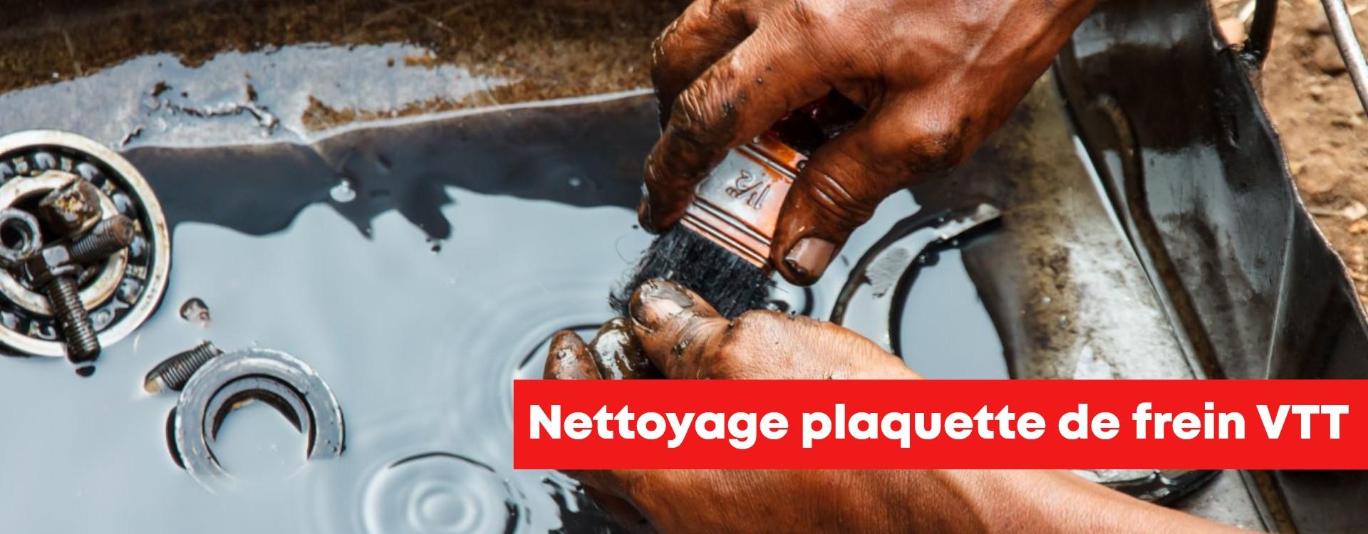 Nettoyage plaquette de frein VTT !
