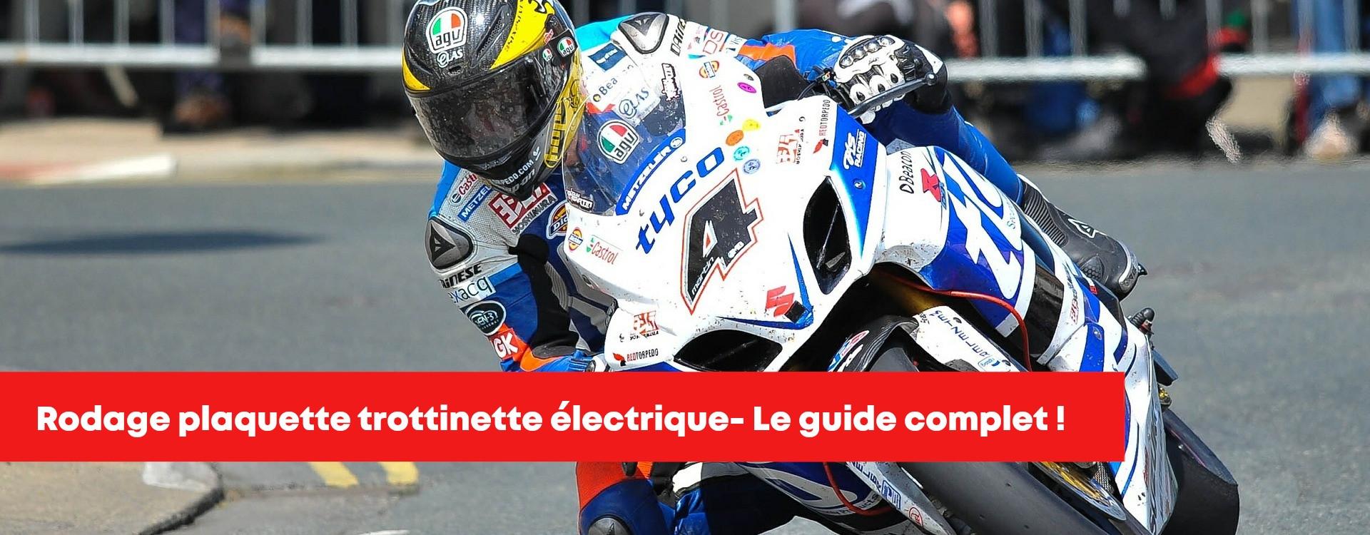 Rodage plaquette frein trottinette électrique pour un freinage précis et performant !
